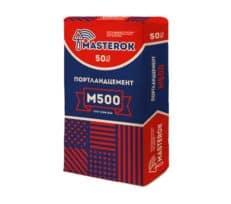 Портландцемент М500, мешок 50 кг, «Masterok»