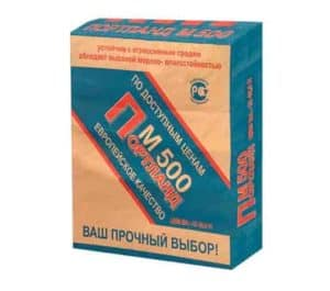 Цемент М500 Д20 (ЦЕМ II/А-Ш 42,5Н), мешок 50 кг, «Себряковцемент»
