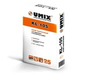 Плиточный клей экономкласса KL-105, мешок 25 кг, «Umix»
