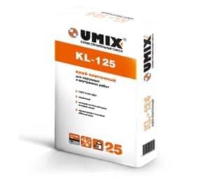 Надежный плиточный клей KL-125, мешок 25 кг, «Umix»