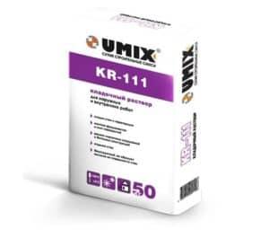 Кладочный раствор KR-111, мешок 50 кг, «Umix»