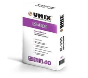 Пескобетон M-300, мешок 40 кг, «Umix»