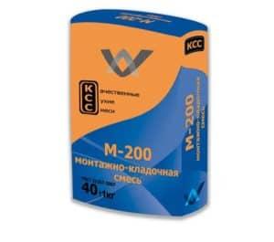 Монтажно-кладочная смесь М-200 (КСС), мешок 40 кг, «Финстрой»