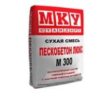 Сухая смесь М-300 пескобетон Люкс, мешок 40 кг, «МКУ стандарт»