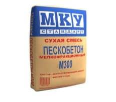 Сухая смесь М-300 пескобетон мелкофракционный, мешок 40 кг, «МКУ стандарт»