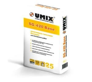 Базовая гипсовая шпатлевка SG-420 Base, мешок 25 кг, «Umix»
