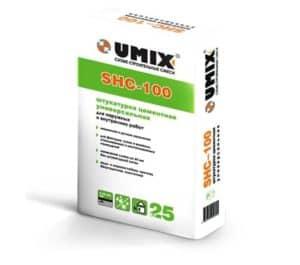 Универсальная цементная штукатурка SHC-100, мешок 25 кг, «Umix»