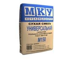 Сухая строительная смесь М-150 универсальная, мешок 40 кг, «МКУ стандарт»