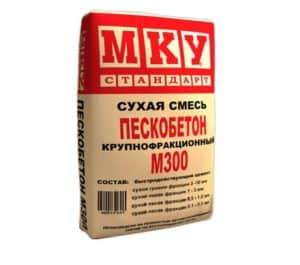 Сухая смесь М-300 пескобетон крупнофракционный, мешок 40 кг, «МКУ стандарт»