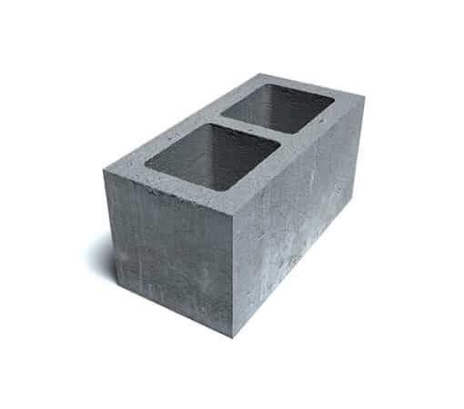 Блок пескоцементный 2-х щелевой 400x200x200