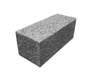 Блок керамзитобетонный полнотелый 400x200x200
