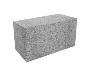 Блок пескоцементный полнотелый фундаментный 400x200x200