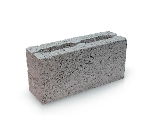 Блок керамзитобетонный 2-х щелевой (перегородочный) 400x200x100