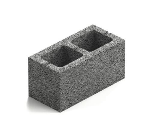 Блок керамзитобетонный 2-х щелевой 400x200x200