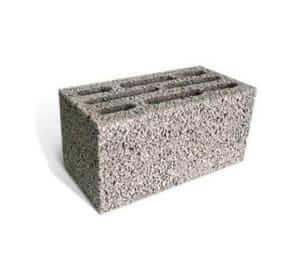 Блок керамзитобетонный 8-ми щелевой 400x200x200