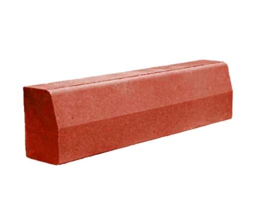 Камень бетонный бортовой, БР 100x30x15, красный