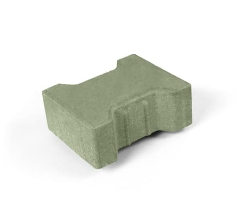 Тротуарная плитка Катушка, зелёная