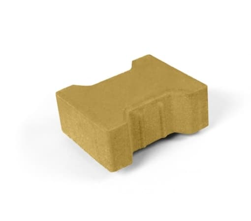 Тротуарная плитка Катушка, жёлтая