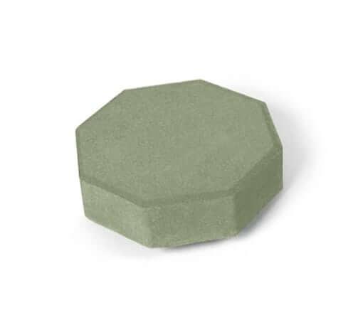 Тротуарная плитка Шестигранник, зелёная