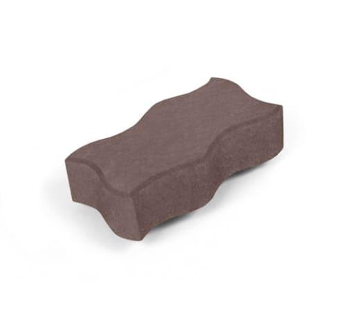 Тротуарная плитка Волна, коричневая